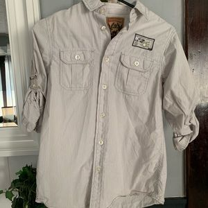 Boys long sleeve button down size M